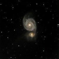 M51 NGC 5194 The Whirlpool Galaxy NGC 5195 (companion)