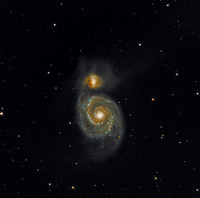 M51 NGC 5194 The Whirlpool Galaxy NGC 5195