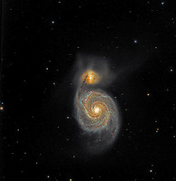 M51 NGC 5194 The Whirlpool Galaxy NGC 5195 combo